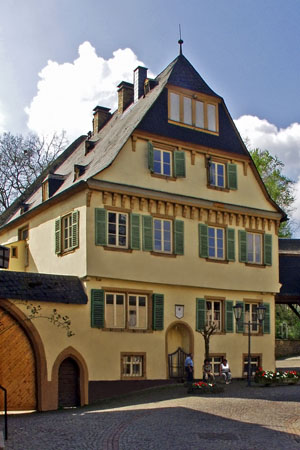 The «Yellow House» in Meisenheim: oldest half-timbered house of the Nahe region (Nahe Valley)
