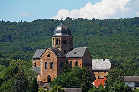 Romanesque monastery church St. Martin in Sponheim from the 12th and 13th century (Nahe Valley)
