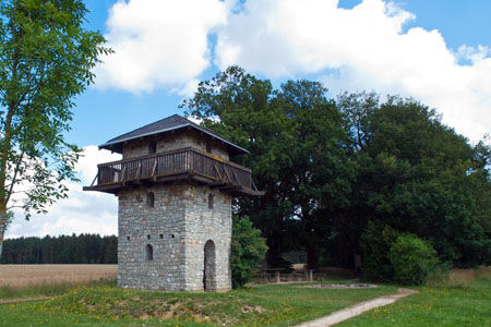 Reconstructed Roman wachtower on the Ausonius Way near Dill («Soonwald» Forest)