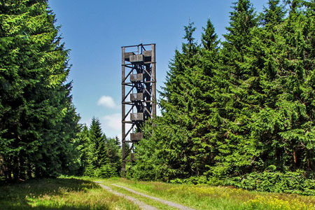 Observation tower on the Idarkopf mountain («Idarwald» Forest)
