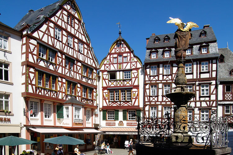 Bernkastel with its famous medieval marketplace (Mosel Valley)