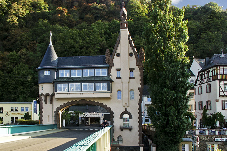 Famous bridge across the Mosel river in Traben-Trarbach (Mosel Valley)