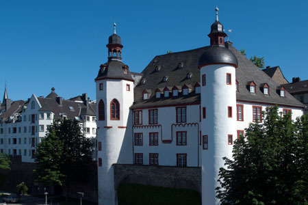 Koblenz: «Alte Burg» (old castle) of the year 1277  (Mosel Valley)