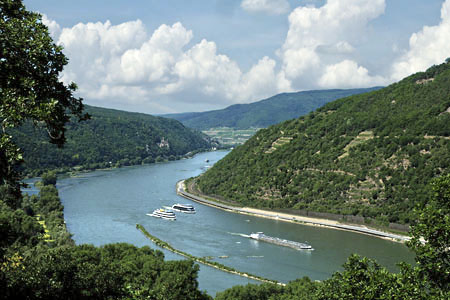 Survey of the Rhine valley from the vantage point of the Luisenhöhe (Rhine Valley)